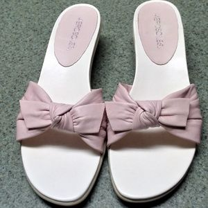 Pale Pink low heeled sandals